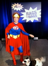 Rags To Wags, Rehearsing with SuperHero dog to walk down the runway